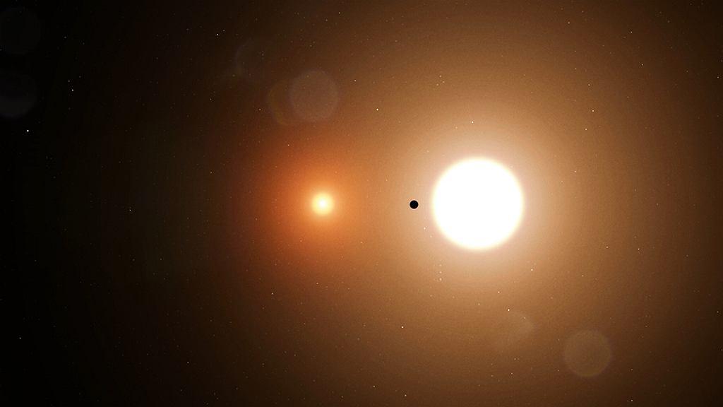 TOI 1338 b i dwie gwiazdy planety