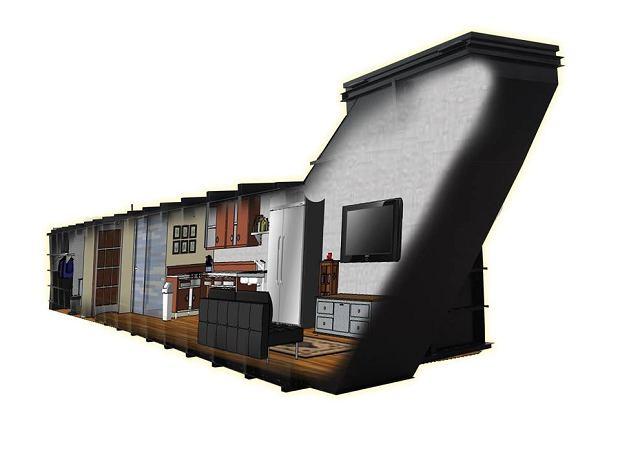 Wizualizacja wnętrza schronu firmy RSC Shelters
