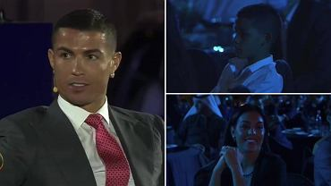 Cristiano Ronaldo, Cristano Ronaldo Jr i Georgina Rodriguez na gali w Dubaju