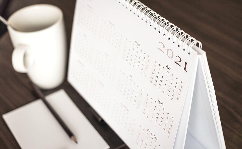 Kalendarz 2021, zdjęcie ilustracyjne