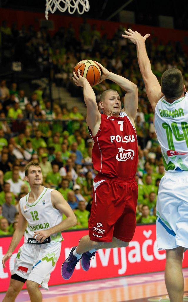 Krzysztof Szubarga w meczu ze Słowenią