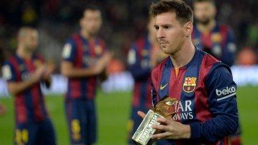 Barcelona - Atletico. Messi odbiera nagrodę dla najlepszego strzelca w historii ligi