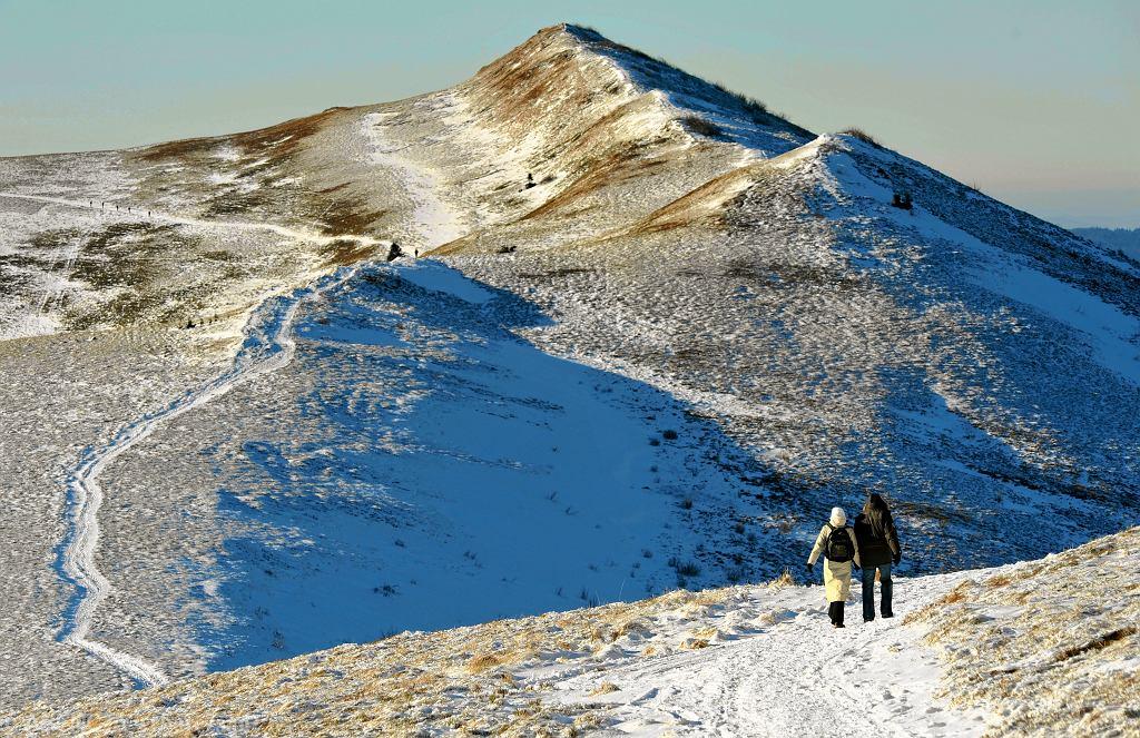 śnieg w Bieszczadach (zdjęcie ilustracyjne)