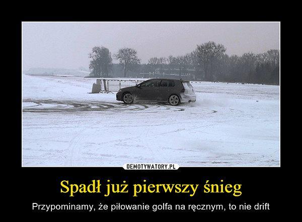 Śnieg, demotywator