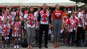 Strefa kibica w Pałacu Prezydenckim, mecz Polska-Senegal