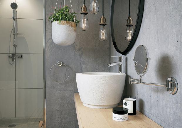 Ferro: bateria umywalkowa stojąca Veneto VerdeLine, lusterko kosmetyczne na ramieniu