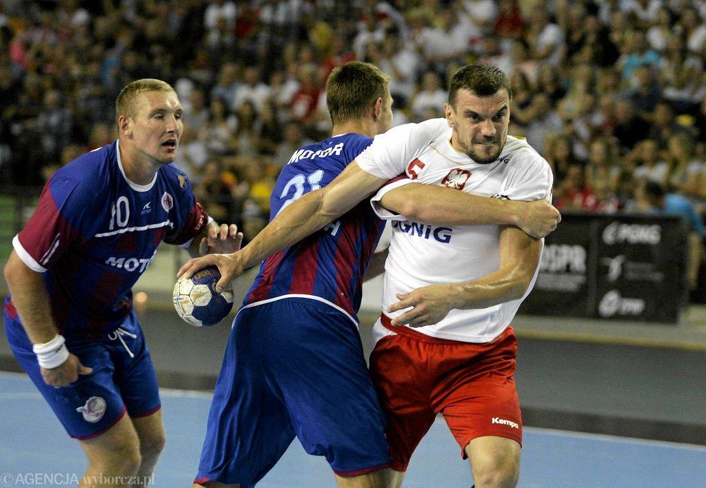 Michał Jurecki podczas meczu Polska - Motor Zaporoże