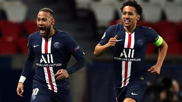 PSG mistrzem Francji. Z lewej Neymar, z prawej Marquinhos