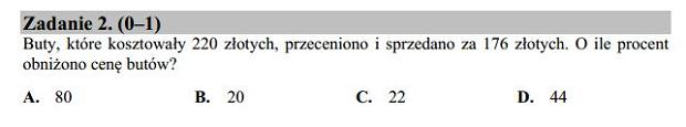 Matura poprawkowa 2016 matematyka, Zad. 2