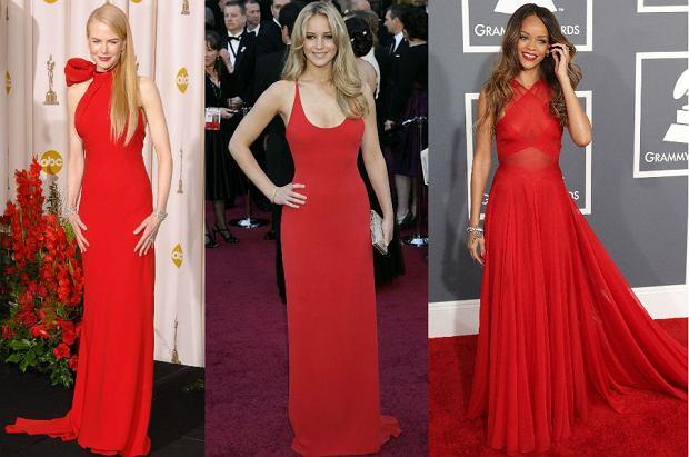 Gwiazdy w czerwonych sukienkach