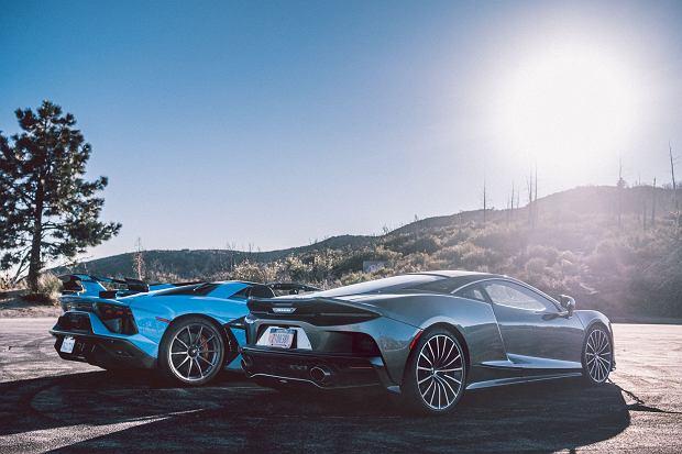 Lamborghini Aventador SVJ Roadster i McLaren GT