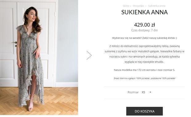 Sukienka ślubna Marty Kaczyńskiej