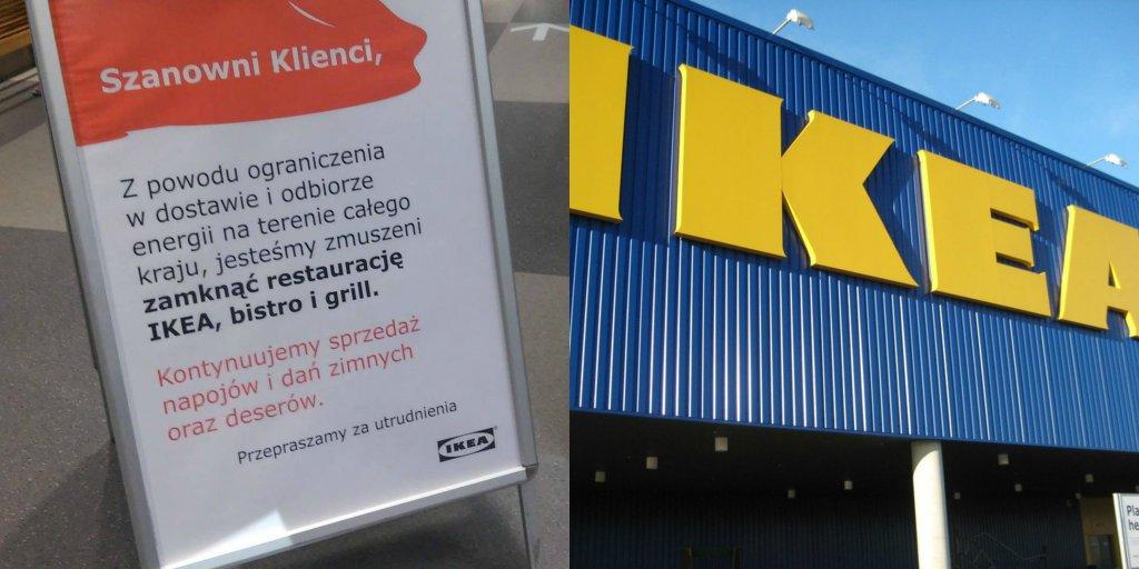 Ograniczenia w zużyciu elektryczności w sklepach IKEA