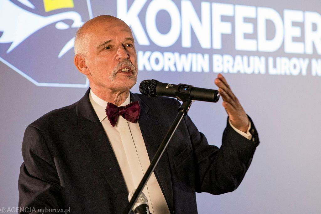 Wybory do europarlamentu 2019. Janusz Korwin-Mikke komentuje wyniki