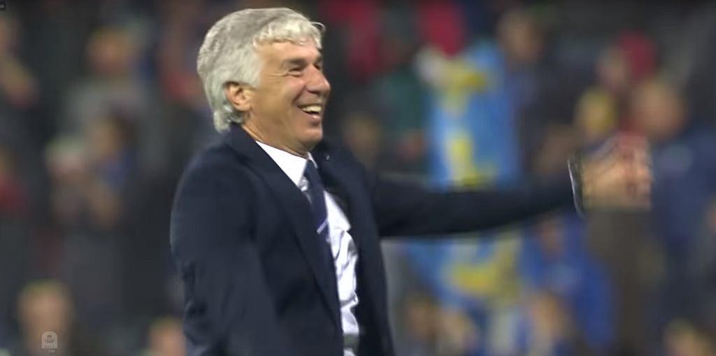 Gian Piero Gasperini cieszy się z awansu do Ligi Mistrzów