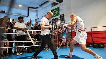 W czwartek o godz. 15 w Gdyni odbył się trening otwarty Krzysztofa Głowackiego przed walką o mistrzostwo świata kategorii WBO