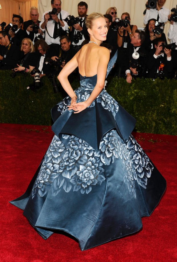"""Karolina Kurkova attends The Metropolitan Museum of Art's Costume Institute benefit gala celebrating """"Charles James: Beyond Fashion"""" on Monday, May 5, 2014, in New York. (Photo by Charles Sykes/Invision/AP)"""