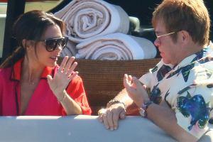 Victoria Beckham i Elton John na wakacjach