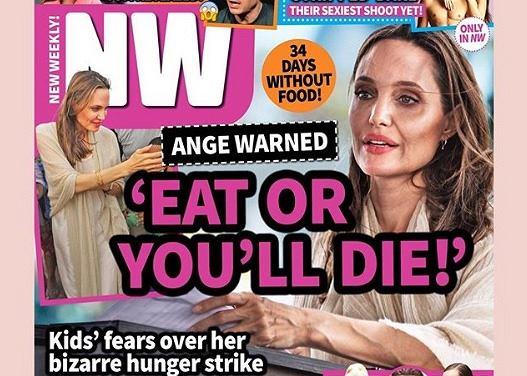Amerykańskie media donoszą, że Angelina Jolie nie jadła od 34 dni