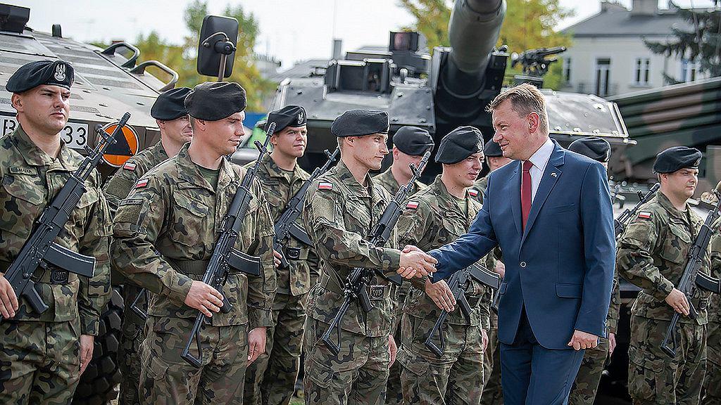 Minister Błaszczak na uroczystości w Siedlcach