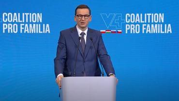 Premier Mateusz Morawiecki podczas konferencji 'V4+ Coalition Pro Familia'
