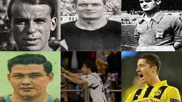 W górnym rzędzie od lewej: Josep  Samitier, Marti Ventolra, Esteban Echevarria. W dolnym rzędzie od lewej: Eulogio Martinez, Diego Milito, Robert Lewandowski