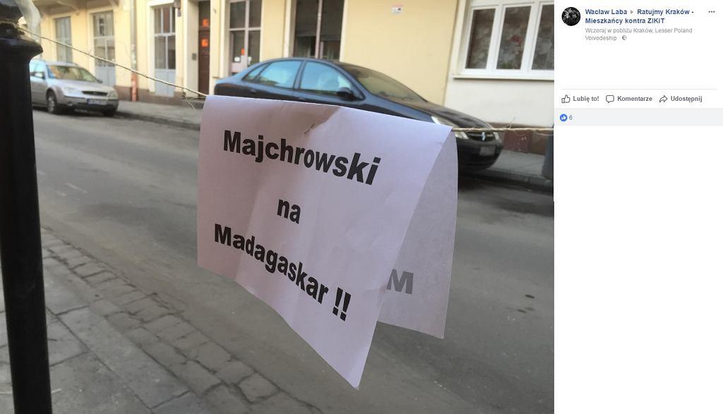 Protest mieszkańców Krakowa