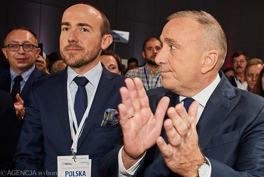 Borys Budka i Grzegorz Schetyna podczas Krajowej Konwencji Platformy Obywatelskiej, 2017 r.