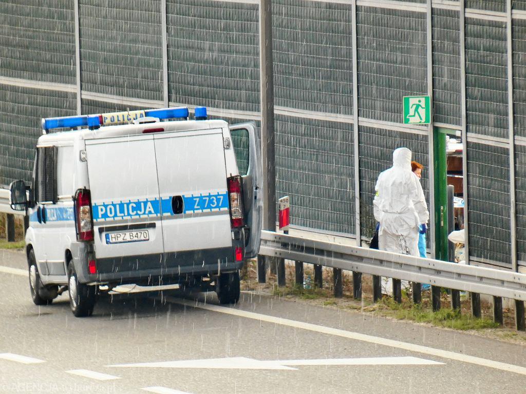 Węzeł Pruszków. Miejsce, gdzie policja miała odnaleźć ciało 5-letniego Dawida Żukowskiego