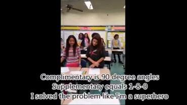 Uczniowie rapują do hitu Beyonce, a zarazem zapamiętują geometryczne wzory