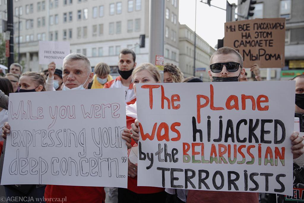 Protesty po zatrzymaniu Romana Protasewicza