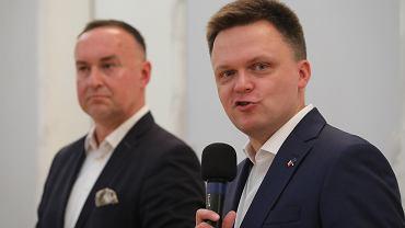 Michał Kobosko i Szymon Hołownia, liderzy partii Polska 2050