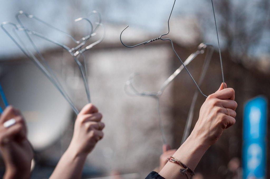Manifestacja w sprawie życia dla kobiet (fot. Bartek Kuzia)