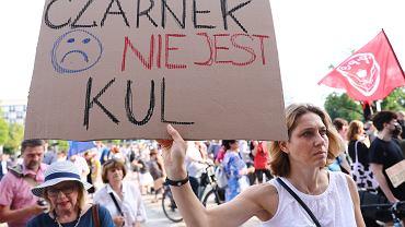 Protest przeciwko ideologizacji edukacji i nauki w Krakowie