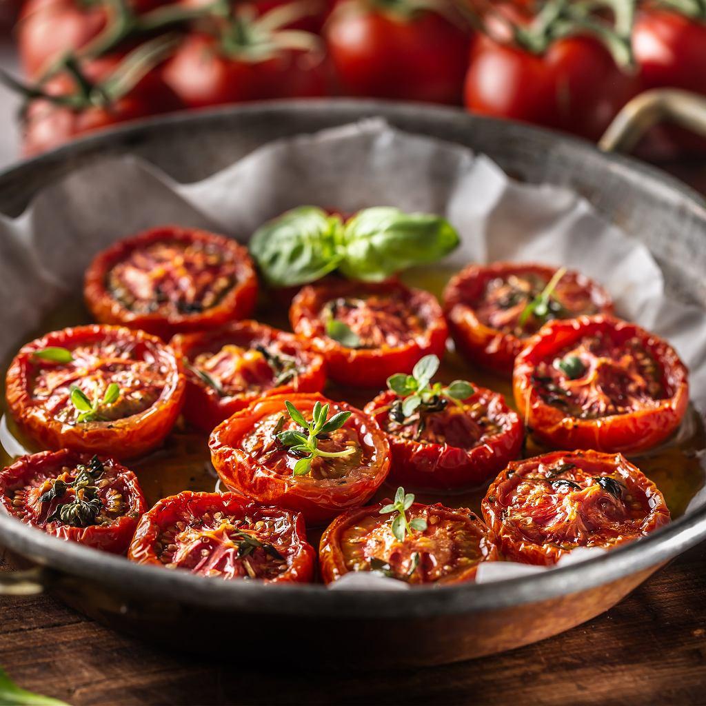 Pieczone pomidory z oregano