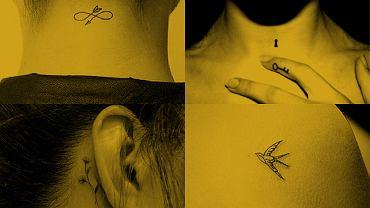 Małe, subtelne tatuaże