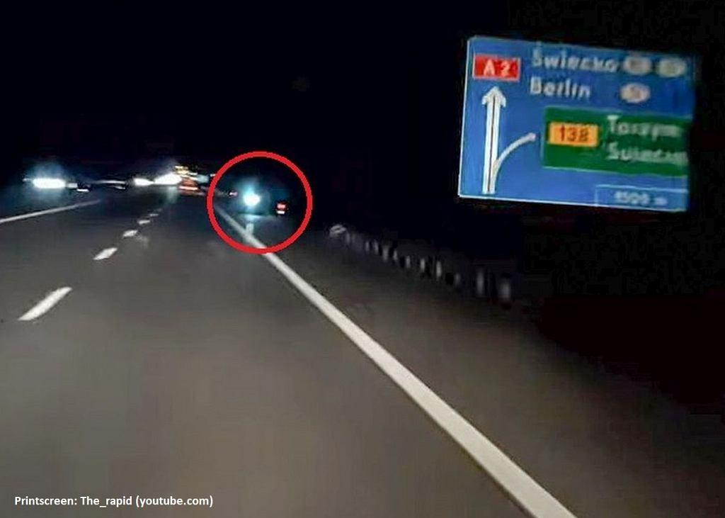 Jechał na hulajnodze autostradą A2 pod prąd