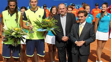 Luigi Lavaglio (pierwszy z prawej) podczas ceremonii zakończenia 22. Pekao Szczecin Open