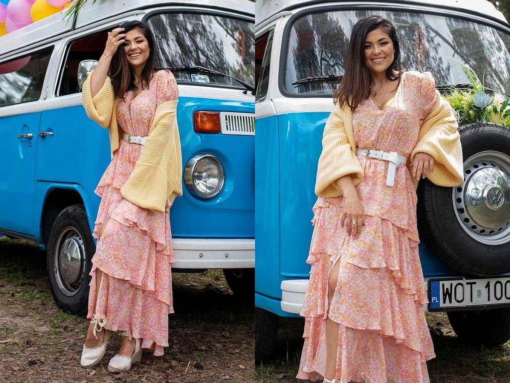 Kasia Cichopek w sukience maxi