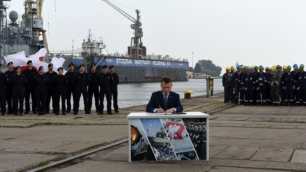 Podpisanie umowy na budowę fregat Miecznik