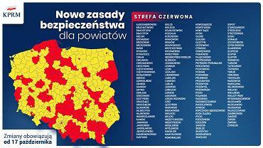 Koronawirus. Podział Polski na strefy czerwoną i żółtą