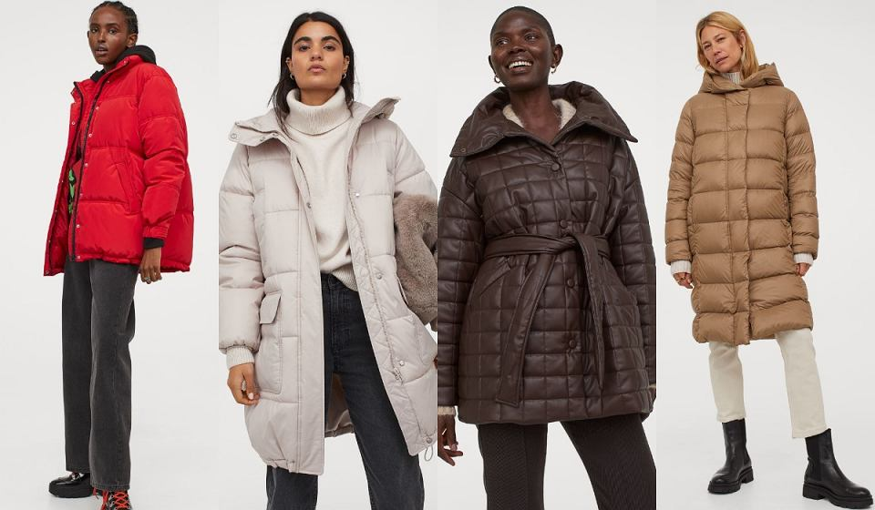 H&M puchowe kurtki i płaszcze