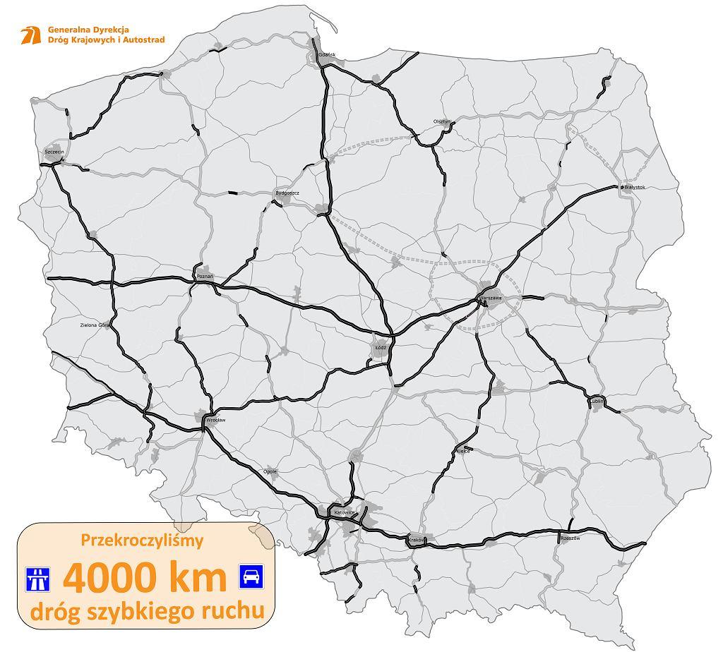 Sieć dróg szybkiego ruchu w Polsce
