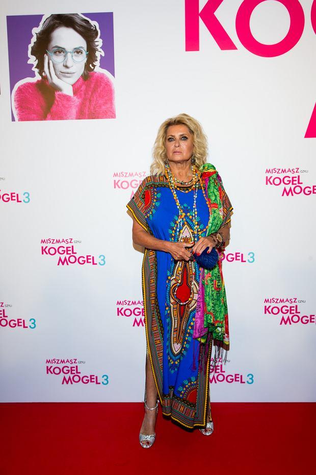 Ewa Kasprzyk na premierze filmu Kogel Mogel