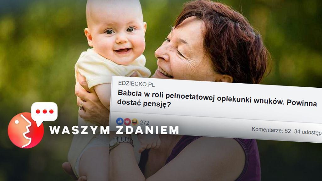 Dyskusja, czy płacić babciom i dziadkom za opiekę nad wnukami mocno dzieli czytelników