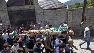 29.08.2019 Duisi, Gruzja. Pogrzeb Zelimchana Changoszwilego