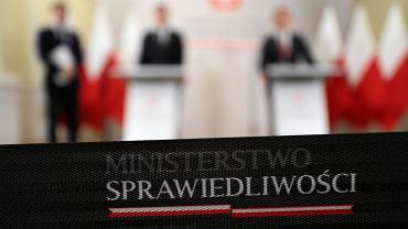 Konferencja prasowa kierownictwa resortu. Ministerstwo Sprawiedliwości, Warszawa, 8 stycznia 2019