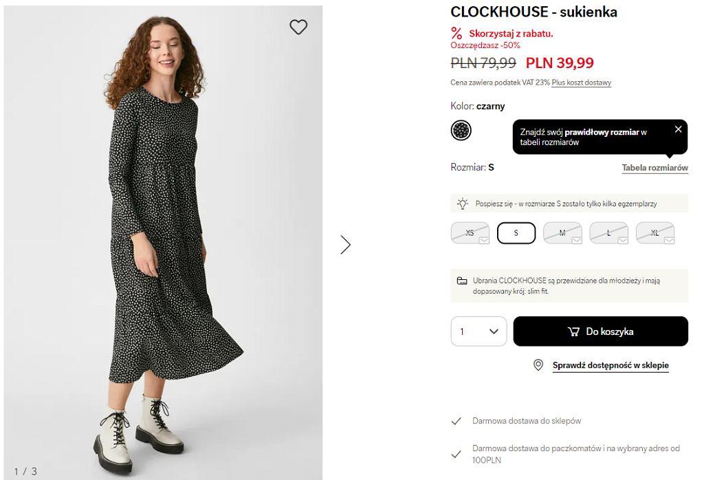 sukienka na jesień C&A