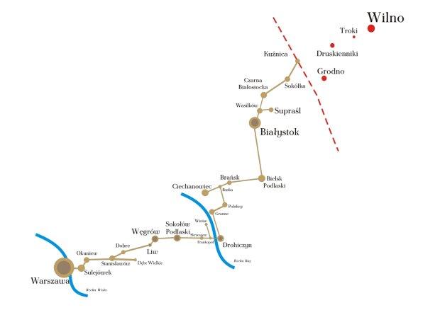 Wielki Gościniec Litewski - mapa