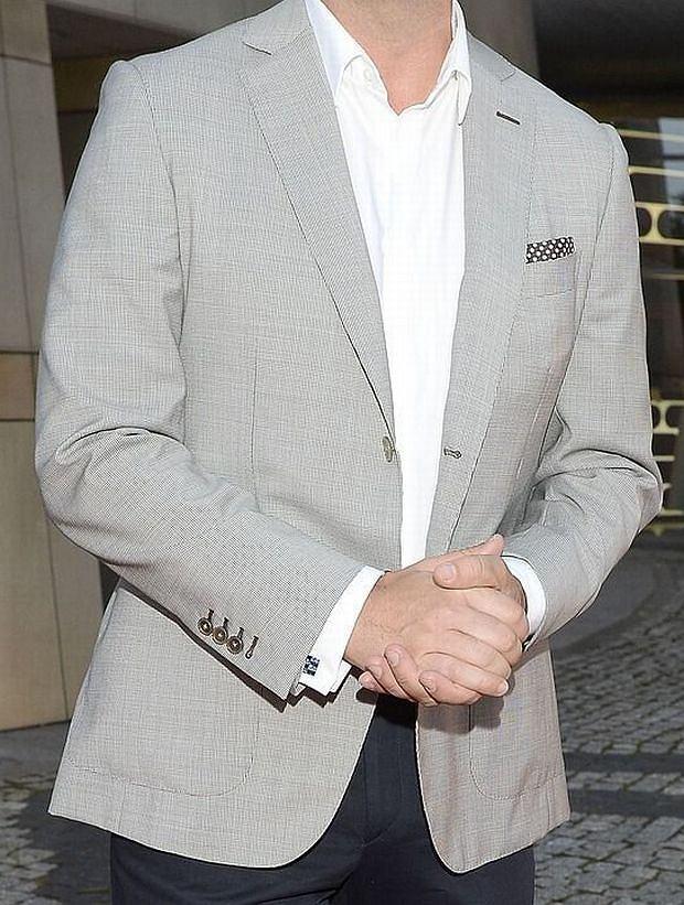 Jacek Rozenek., stylowy mężczyna